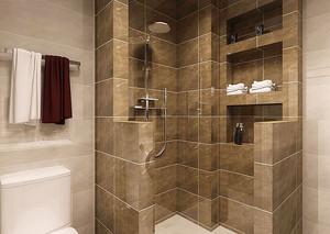 砖砌淋浴半墙隔断图片