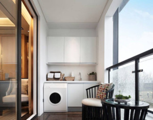 洗衣机组合柜阳台