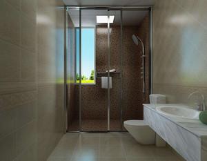 卫生间玻璃拉门效果图