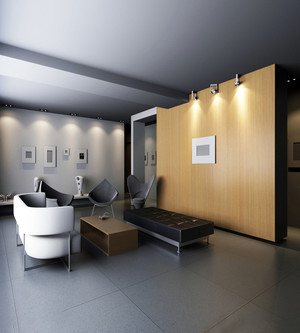开放式办公室装修效果图,整体色调以灰色为主,显得时尚高档,没有过多的装饰品,干净利索,让人心情舒畅。空间以木质板进行隔离分区,对空间进行合理分配,不会显得太过空旷。