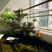 阳台水景观绿化效果图