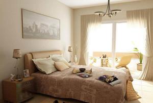 卧室半截窗帘效果图
