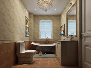 洗手间磁砖铺贴效果图