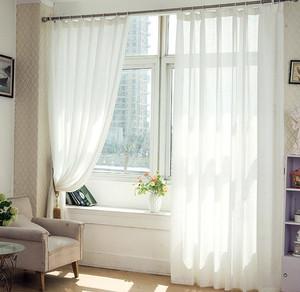 飘窗罗马杆窗帘效果图