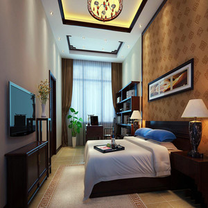 100平米小卧室背景墙设计图