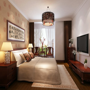 60平室内装修卧室设计图,简欧格调是时下最为主流的装饰风格之一,它既不像欧式风格那么繁杂、奢华,也不像简约风格那么简洁,它是把欧式风格和简约风格有机的结合起来,带给人全新的视觉感受。