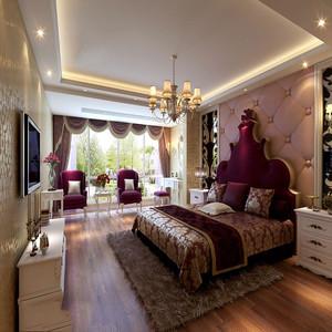 简欧式卧室装修效果图