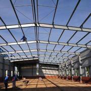 小型钢结构厂房效果图