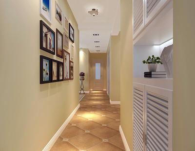 家庭走廊照片墙效果图