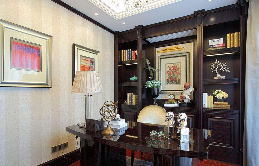 美式书房装修设计效果图大全