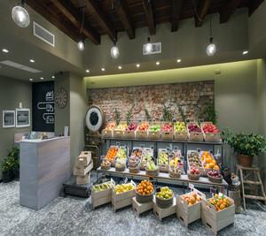 水果店的陈列和装修效果图