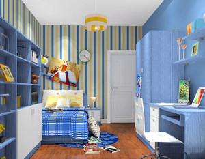 儿童房壁纸装修效果图男孩