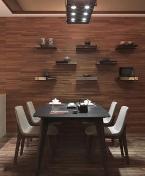 新中式餐厅背景墙效果图