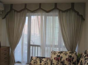 高端大气客厅窗帘图