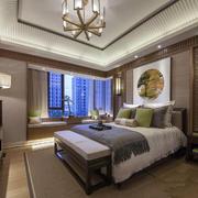 别墅新中式卧室装修效果图