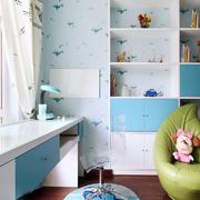 现代儿童书房装修效果图
