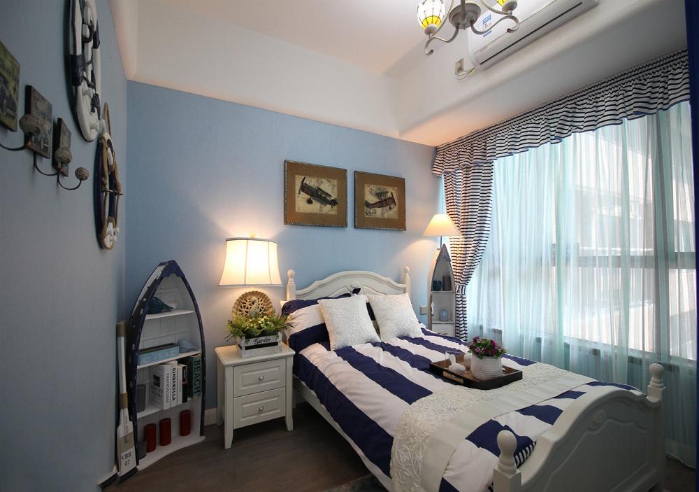 地中海风卧室效果图