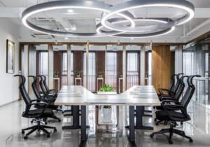 绿色人文办公空间会议室装修效果图赏析