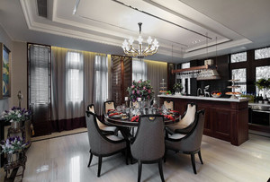 大面积家庭餐厅装修效果图