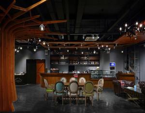 工业风咖啡厅效果图