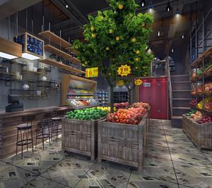 60平米水果店装修图片