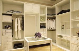 现代衣帽间装修组合衣柜
