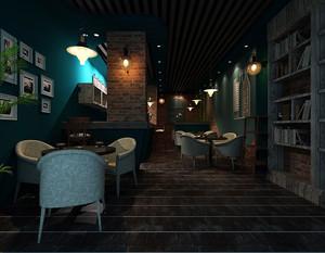60平米咖啡厅创意装修效果图