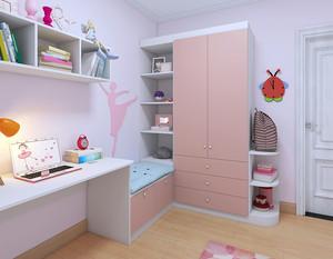 儿童卧室书柜效果图