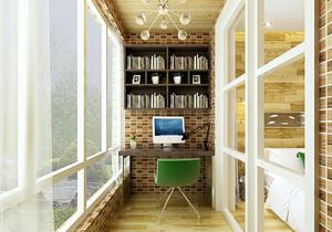 阳台改书房设计图欣赏