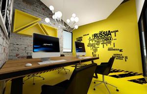 创意办公室装修效果图
