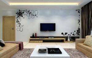 石膏板简单好看电视墙