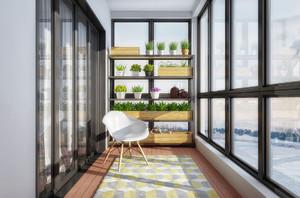 小型阳台迷你花园装修案例