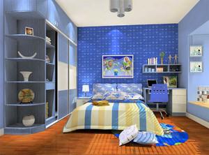 男孩房间设计图卧室图片