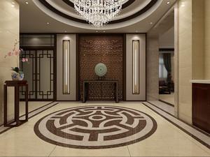 别墅客厅现代风格玄关隔断效果图