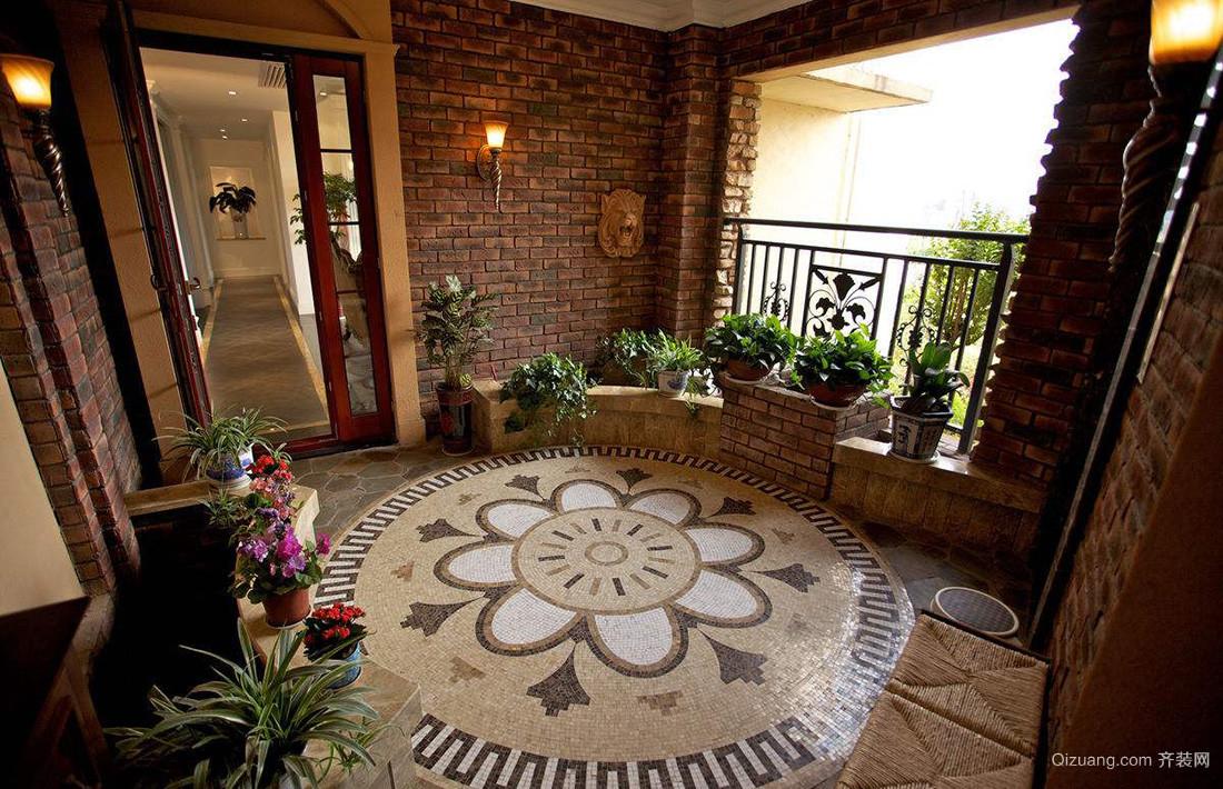 高层阳台入户花园装修效果图