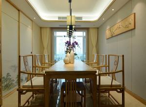 新中式别墅餐厅装修效果图