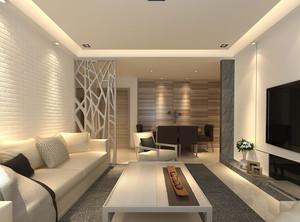 客厅镂空隔断装修效果图