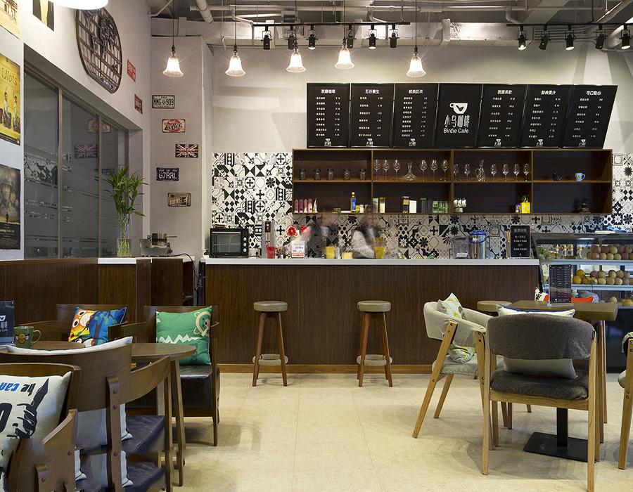 咖啡店吧台设计效果图 - 齐装网装修效果图