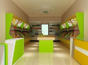 40平方米水果店效果图
