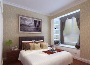 卧室小窗帘效果图