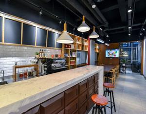 北欧风咖啡厅吧台装修效果图