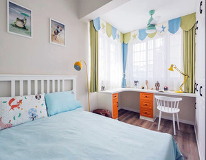 现代儿童房家居颜色搭配效果图