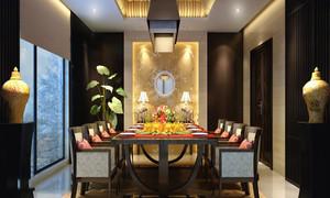中式家庭餐厅装修效果图