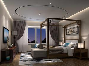 美式卧室床头墙装修效果图