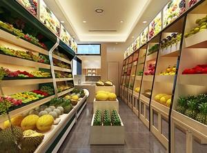 水果店铺装修效果图