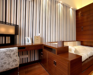 现代中式榻榻米卧室装修