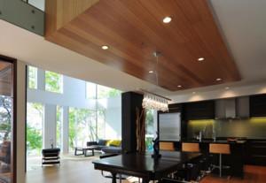 现代风格餐厅木质吊顶装修效果图赏析