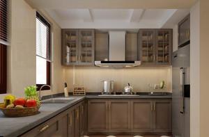 美式风格三居室厨房装修