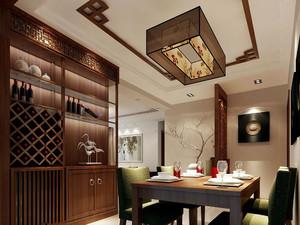 中式家庭餐厅酒柜装修图