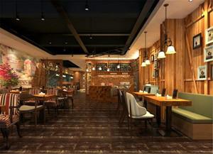 港式咖啡厅装修效果图